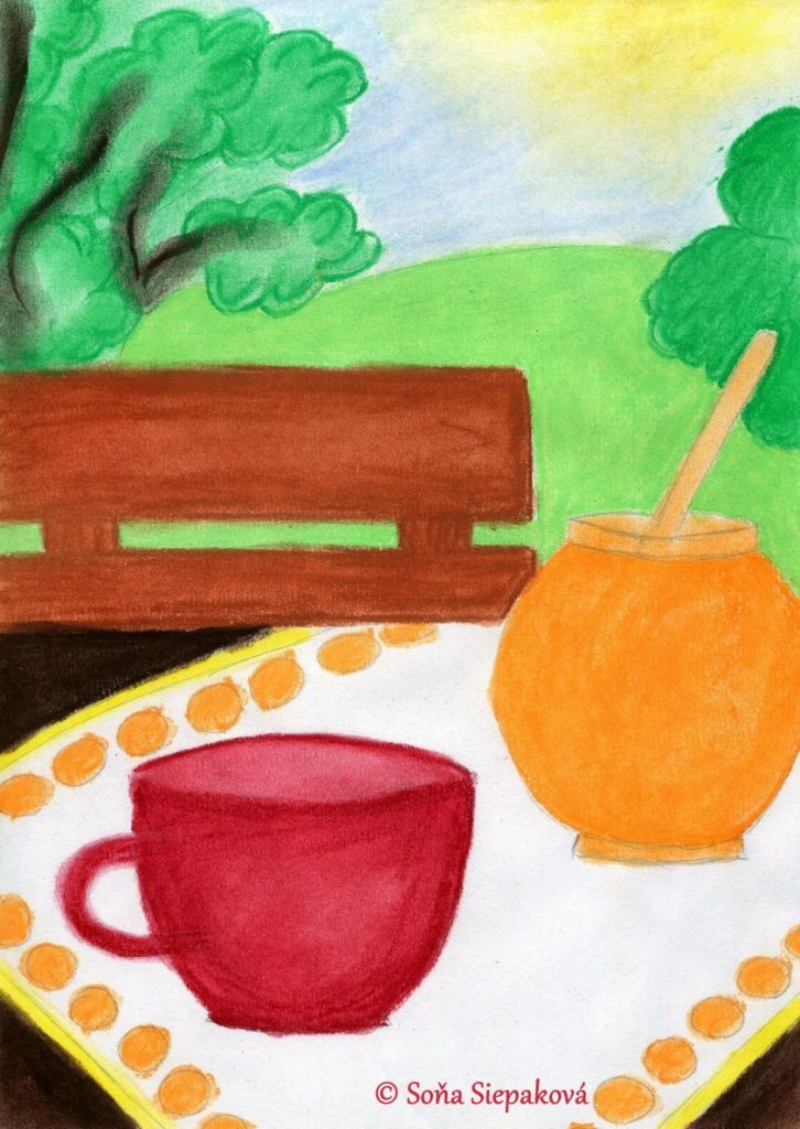 Tea And Honey. Illustration by Sona Siepakova