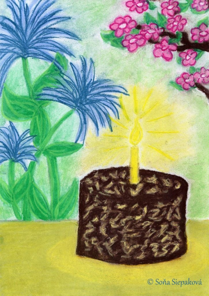 A Birthday Cake, Illustration